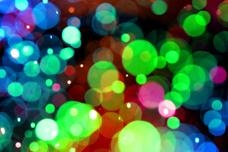 colorful circles bokeh effect of light abstract background with nightlife