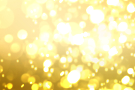 yellow brown Golden glitter Bokeh abstract blurred Background