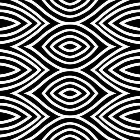 motif eye Wave Tribal ornament design seamless pattern vector with white background Archivio Fotografico - 149062394