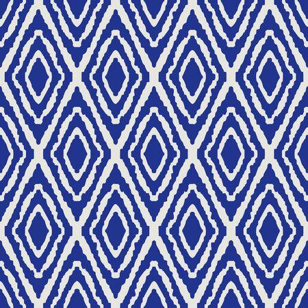 illustration design eye square woven fabric tribal seamless pattern vector blue Porcelain color tone Archivio Fotografico - 149062401