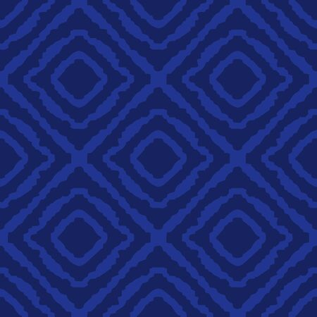 illustration design eye square woven fabric tribal seamless pattern vector blue Porcelain color tone Archivio Fotografico - 149062402