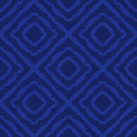 illustration design eye square woven fabric tribal seamless pattern vector blue Porcelain color tone