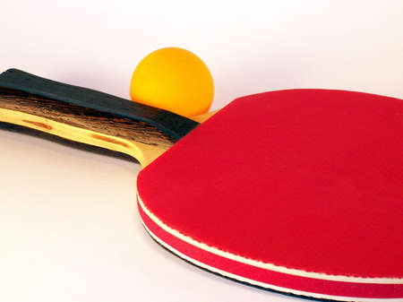 Ping pong con pelota paleta  Foto de archivo - 3548191