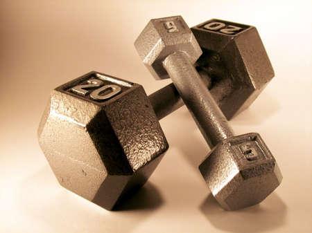 Set Of Exercise Dumbbells Stock fotó