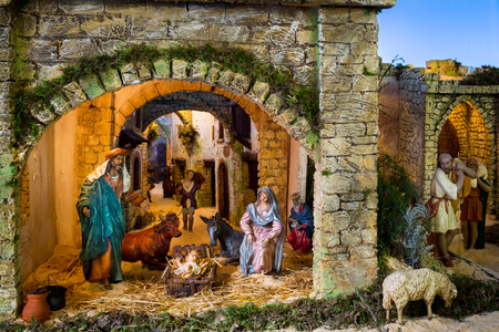crib: The traditional image of Christmas in Catholicism created annually a holiday embodiment.