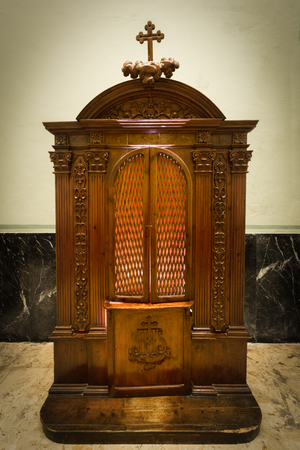 antique booth: The room keeping secret of a confession
