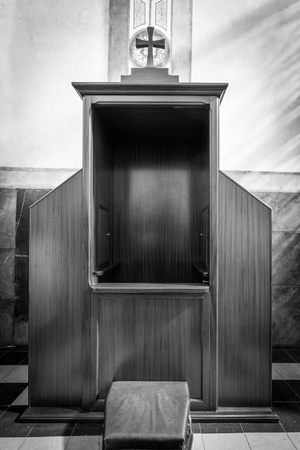 antique booth: Confessional, The room keeping secret of a confession