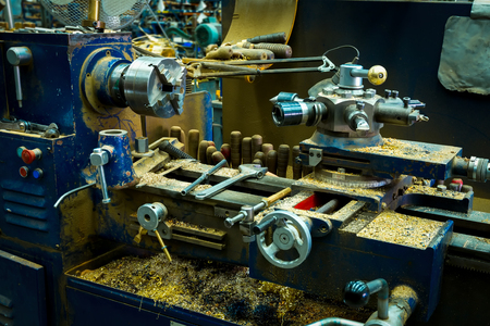 The woodworking machine with various additional equipment and the tool.