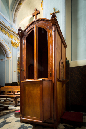 Confessional The room keeping secret of a confession