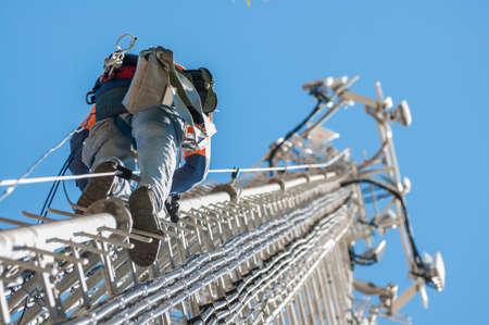 Wieża wspinacz Zdjęcie Seryjne