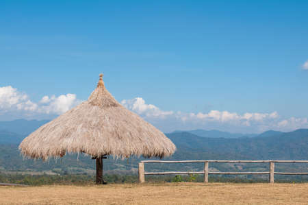 Hut on the mountian at Pai, Chang mai, Thailand.