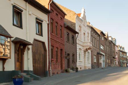 fachadas de casa: Fachadas de las casas Foto de archivo
