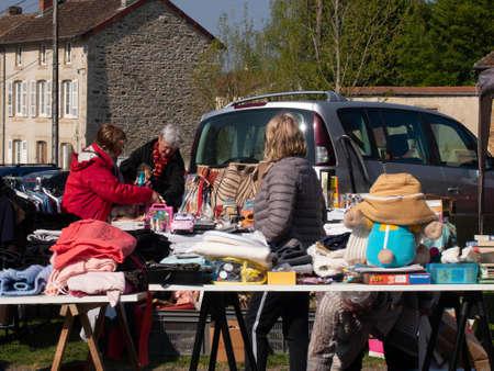 flea market and garage sale Editorial