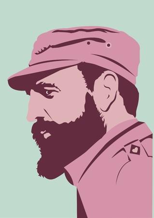 cuba: Fidel Alejandro Castro Ruz Illustration