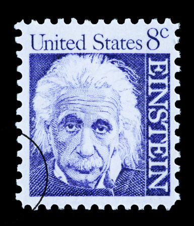 UNITED STATES AMERICA - CIRCA 1965: A postage stamp printed in the USA showing Albert Einstein, circa 1965