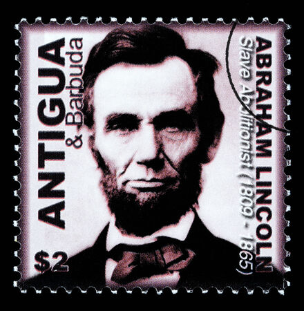 ANTIGUA - CIRCA 2000: A postage stamp printed in Antigua showing Abraham Lincoln, circa 2000
