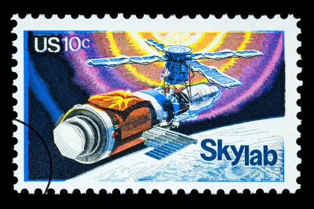 UNITED STATES AMERICA - CIRCA 1970: A postage stamp printed in the USA for Sky Lab, circa 1976