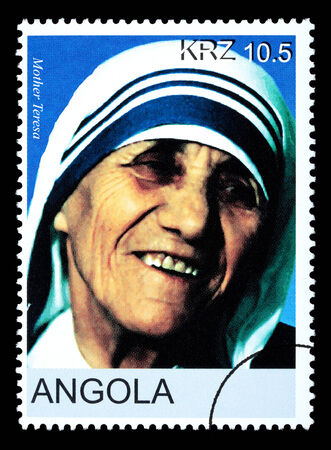 angola: ANGOLA - CIRCA 2005: A postage stamp printed in Angola showing Mother Teresa, circa 2005 Editorial