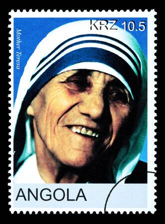 ANGOLA - CIRCA 2005: A postage stamp printed in Angola showing Mother Teresa, circa 2005 Redakční