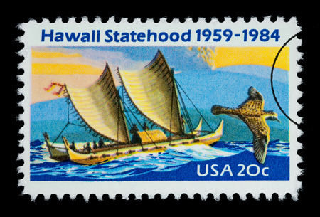 UNITED STATES AMERICA - CIRCA 1984: A postage stamp printed in the USA for the State of Hawaii, circa 1984
