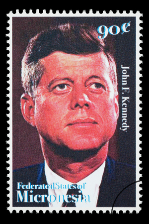 jfk: FEDERATED STATES MICRONESIA - CIRCA 1990: A postage stamp printed in FSM showing John F. Kennedy, circa 2000