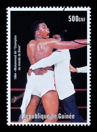 ali: REPUBLIC OF GUINEA - CIRCA 2000: A postage stamp printed in Guinea showing  Muhammad Ali, circa 2000