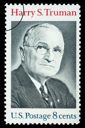 UNITED STATES AMERICA - CIRCA 1973: A postage stamp printed in the USA showing Harry S. Truman, circa 1973