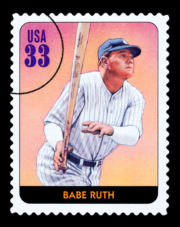 UNITED STATES - CIRCA 2005: A postage stamp printed in the USA showing Babe Ruth, circa 2005 Redakční