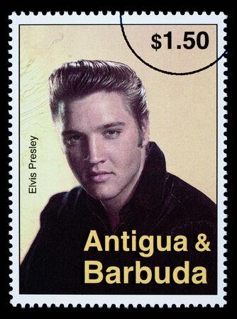 ANTIGUA & BARBUDA - CIRCA 2000: A postage stamp printed in Antigua showing Elvis Presley, circa 2000