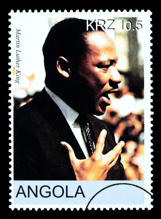 martin luther king: ANGOLA - CIRCA 2005: A postage stamp printed in Angola showing Martin Luther King, circa 2005 Editorial