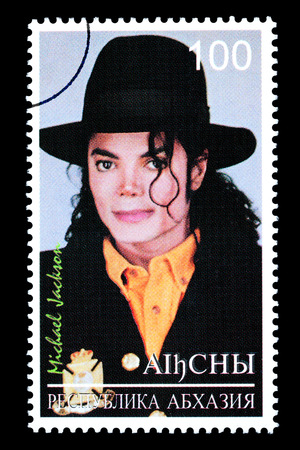 RUSSIA - CIRCA 2005: A postage stamp printed in Russia showing Michael Jackson, circa 2005