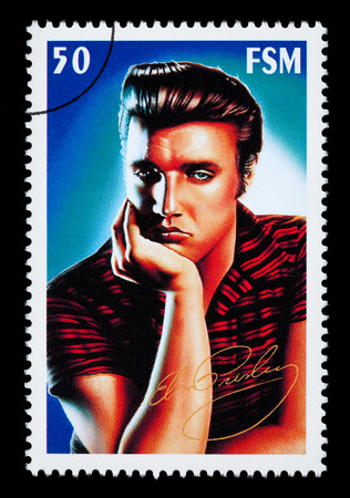 federated: FEDERATED STATES MICRONESIA - CIRCA 2000: A postage stamp printed in FSM showing Elvis Presley, circa 2000 Editorial