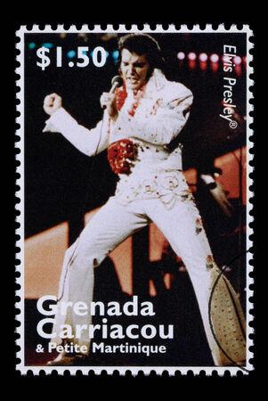 GRENADA - CIRCA 2000: A postage stamp printed in Grenada showing Elvis Presley, circa 2000
