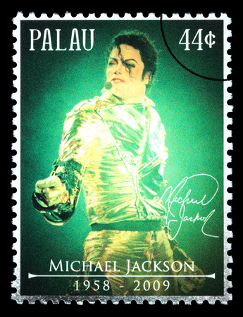 PALAU - CIRCA 2010: A postage stamp printed in Palau showing Michael Jackson, circa 2010 Editorial