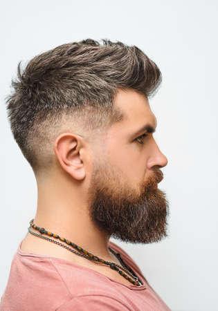Mens haircut in barber shop. Mens haircut, shaving.