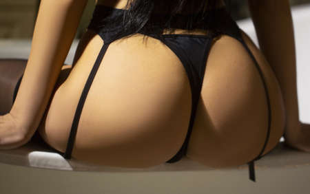 Close-up of ass, back in lingerie Standard-Bild