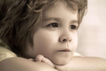 Close-up portrait of the handsome little boy.
