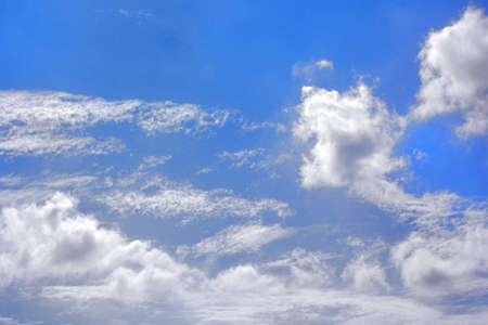 nimbi: Clouds in the blue sky Blue sky and white clouds Stock Photo