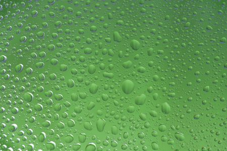 selected: Green water drops background selected focus Stock Photo