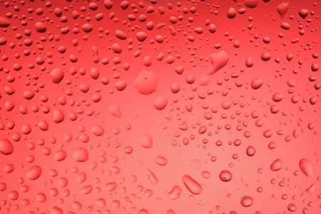 selected: Red water drops background selected focus Stock Photo