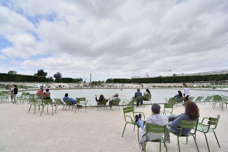 famous place: The famous Place de la Concorde with the obelisk in the background. Paris France