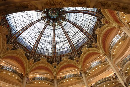 lafayette: Light Dome of Galleries Lafayette, Paris