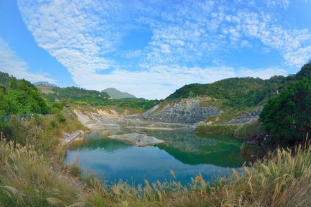 Beitou Thermal Valley (Hell Valley) in Yangmingshan mountain Beitou Thermal Valley (Hell Valley) in Taipei Yangmingshan, Taiwan.Photo taken on:. Nov 19, 2016