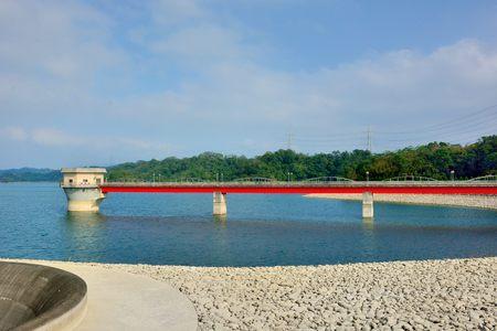Reservoir Baoshan second reservoir, Hsinchu, Taiwan-JANUARY 8, 2017: Taiwans reservoir and artificial lake. Stock Photo