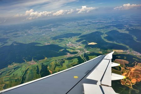 ideally: Aerial photo of European countryside. Ideally for your use Stock Photo
