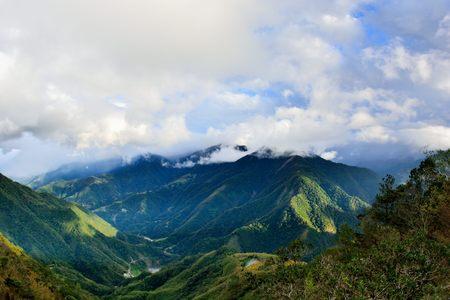 Mountains and clouds Photo taken on:. October 29,2016: Jianshi Township, Hsinchu, Taiwan.
