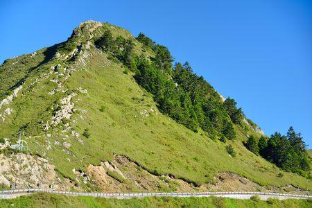 Mountains and clouds, Hehuan Mountain, Taiwan.Photo Photo taken on: June 29,2017 Stock Photo