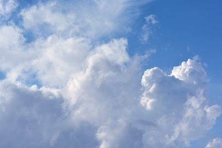 Clouds in the blue sky for background