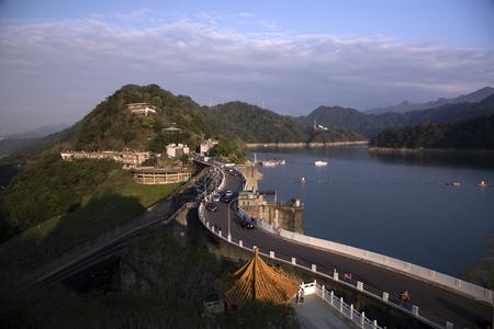 The beautiful scenery of Shimen Reservoir in Taoyuan, Taiwan