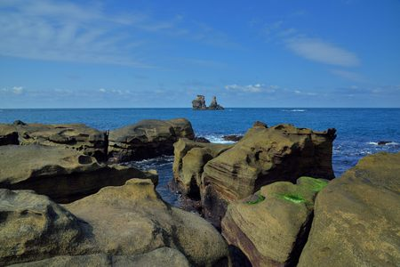 Mysterious Coast of Jinshan, New Taipei City, Taiwan.